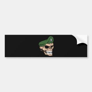 Skull Green Beret Bumper Sticker