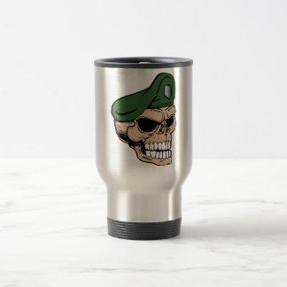 Skull Green Beret Travel Mug