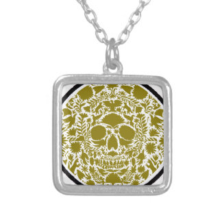 SKULL GREEN GOLD PRODUCTS NECKLACES