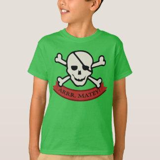 Skull - Green Kids' Basic Hanes Tagless T-Shirt