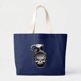 Skull Grenade Large Tote Bag
