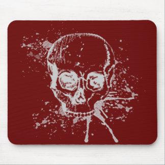 skull - grey mousemat