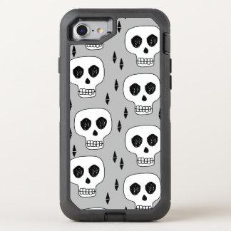 Skull Grey October Halloween / Andrea Lauren OtterBox Defender iPhone 7 Case