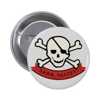 Skull - Grey Standard, 2¼ Inch Round Button