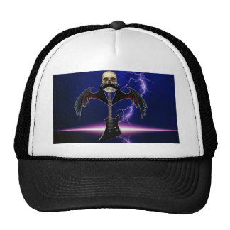 Skull Guitar Mesh Hats