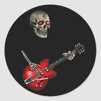 Skull Guitar Player Stickers