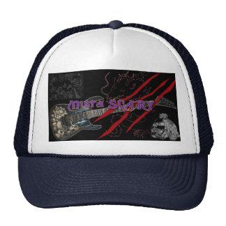 Skull Guitar Red Scratches Logo Baseball Hat