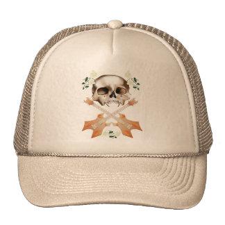 Skull-Guitar-White Rose Hat
