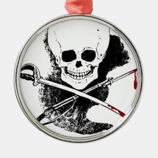 Skull Gun Sword and Blood Ornament