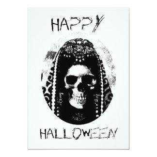 Skull Halloween Invite 13 Cm X 18 Cm Invitation Card