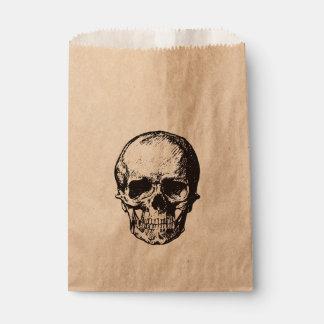 Skull halloween party favor bag