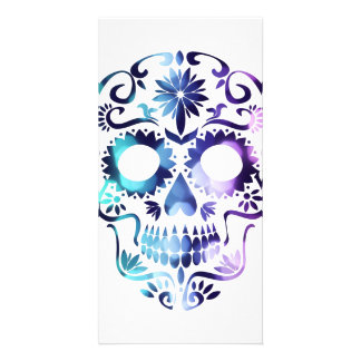 Skull Halloween Symbol Personalized Photo Card