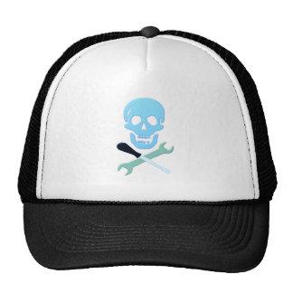 Skull head mechanic skull mechanic mesh hat