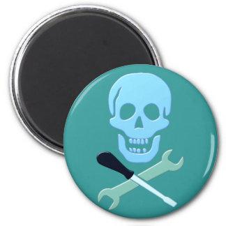 Skull head mechanic skull mechanic magnet