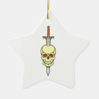 Skull head sword skull sword christmas tree ornaments