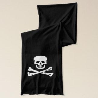 skull head with crossbones scarf