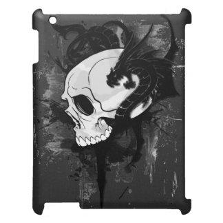 skull head with dragon graffiti cover for the iPad 2 3 4