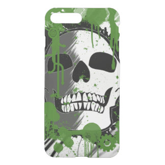 skull head with green spots art graffiti iPhone 7 plus case