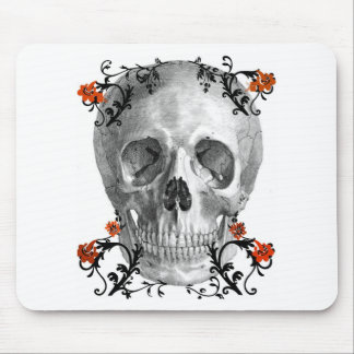 SKULL HEAD WITH VINES VINTAGE AND FLORAL PRINT MOUSEPADS