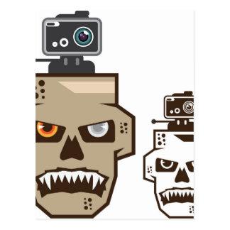 Skull headcam postcard