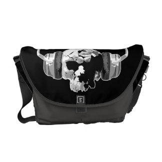 skull headphones messenger bag