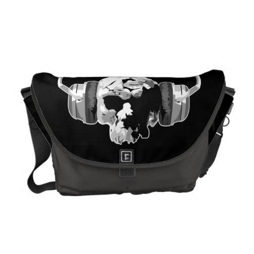 skull headphones messenger bag
