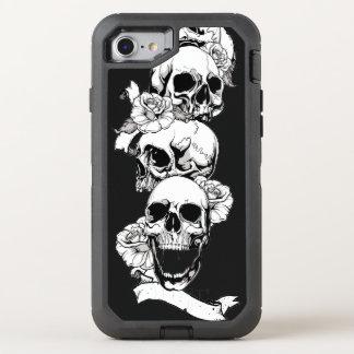 skull heads vintage art OtterBox defender iPhone 8/7 case