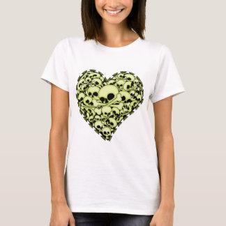 Skull Heart - Green T-Shirt