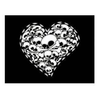 Skull Heart Postcard