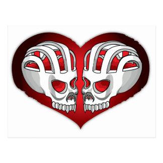 skull-heart postcard