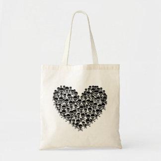 Skull Heart Tote Bag