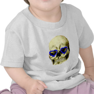 Skull Hearts Blue The MUSEUM Zazzle Gifts T Shirt