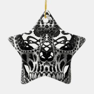 Skull Hearts Christmas Ornament