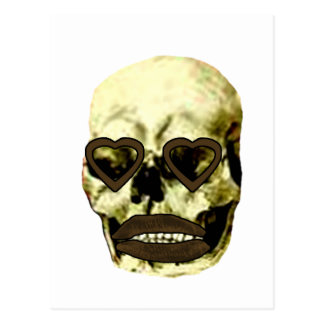 Skull Hearts Gold Kiss The MUSEUM Zazzle Gifts Postcards