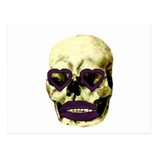 Skull Hearts Magenta Kiss The MUSEUM Zazzle Gifts Post Cards