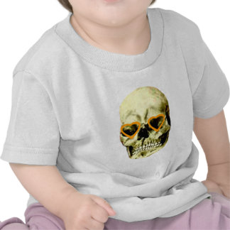 Skull Hearts Orange The MUSEUM Zazzle Gifts Tee Shirts