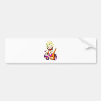 Skull Hot Rod Bumper Sticker