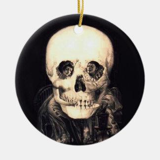 Skull Illusion Christmas Ornament