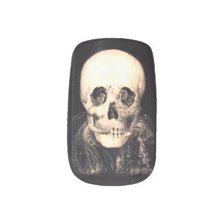 Skull Illusion Minx Nail Art