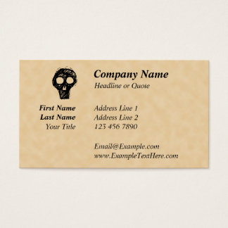 Skull illustration motif. business card