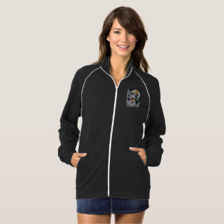 Skull Image Women's Track Fleece Top