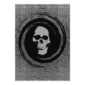 "Skull in a Black Void 5"" X 7"" Invitation Card"