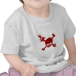 Skull In Blood Tee Shirts