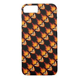 Skull In Flames iPhone 7 Case