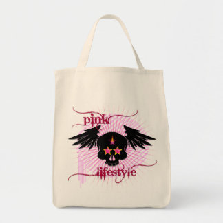 Skull in pink lifestyle bag