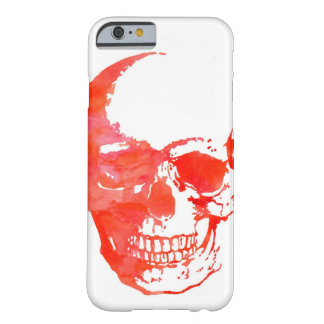 Skull in Red Barely There iPhone 6 Case