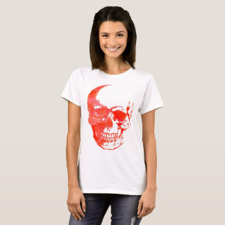 Skull in Red T-Shirt