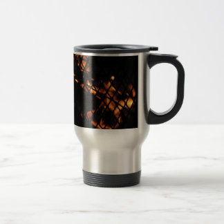 Skull In The Fire Photograph Stainless Steel Travel Mug