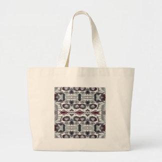 Skull in the mirror canvas bags