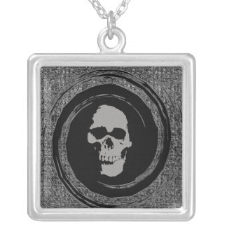 skull in the whirl necklace